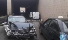 التحكم المروري: جريح نتيجة تصادم بين مركبتين داخل نفق المكلس