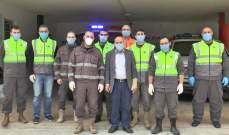 جشي يجول على مراكز الدفاع المدني والحجر الصحي في بلدتي جويا وبافليه