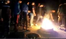النشرة: قطع طريق مرجعيون البقاع عند مثلث سوق الخان