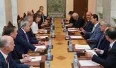 الأسد استقبل المبعوث الخاص للرئيس الروسي الى سوريا