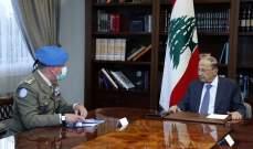 الرئيس عون: لوقف الانتهاكات الاسرائيلية المستمرة للسيادة اللبنانية جواً وبحراً
