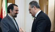 السفير الإيراني بروسيا ونائب لافروف أكدا تعزيز الحوار والتعاون الثنائي