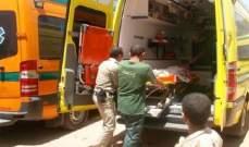 مقتل 13 شخصا بحادث سير جنوب محافظة بني سويف جنوبي القاهرة