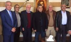 اجتماع بين اللواء ابراهيم وقيادة منظمة التحرير الفلسطينية في لبنان