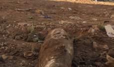 النشرة: العثور على  قذيفة من مخلفات الحرب بجانب بلدية الشياح