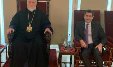 قيومجيان زار الكاثوليكوس كيشيشيان معايدا