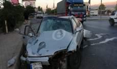 النشرة: عدد من الجرحى بحادث سير على طريق بعلبك - رياق