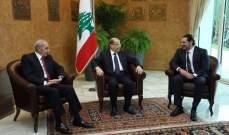 بدء اللقاء الثلاثي بين الرئيس عون وبري والحريري في قصر بعبدا