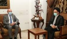 فضل الله استقبل سفير المانيا: البلد لا يستطيع الانتظار طويلا
