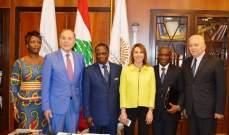 سفير دولة ساحل العاج تفقد مشاريع انمائية تحتضنها غرفة طرابلس