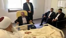 أرسلان زار المرجع الروحي الشيخ أمين الصايغ في المستشفى متفقداً صحّته