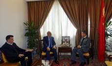 بركات زار السفير الصيني وعرض مع آخر المستجدات