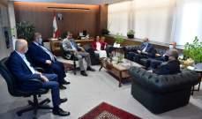 وفد اتحاد نقابات المصارف زار عبد الصمد: خطوات ادارات المصارف غير محببة