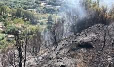 حريق في مساحات شاسعة من الأحراج في خراج بلدتي جران وعبدللي