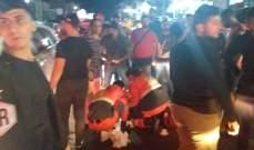 النشرة: جريحان بحادث صدم على طريق عام تعمير حارة صيدا
