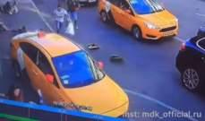 سائق التاكسي الذي صدم المارة وسط موسكو يعترف بما حصل معه