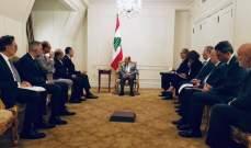 الرئيس عون:لبنان يعمل على النهوض عبر مشاريع إنمائية تترافق مع اصلاحات جدية