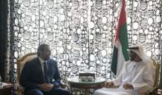 الحريري يلتقي ولي عهد ابو ظبي الشيخ محمد بن زايد في دبي