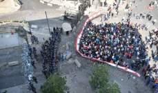 توافد المتظاهرين الى ساحة ساسين في الاشرفية