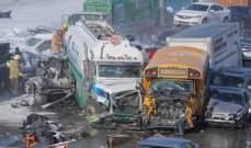مقتل شخصين واصابة 60 في حادث تصادم بين حوالي 200 سيارة بكندا