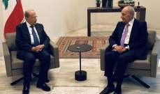 مصادر الجمهورية: عون وبري بحثا بعدد من السيناريوهات المحتملة لجلسة 17 تشرين