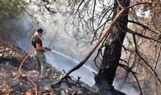 حدة النيران في المشرف خفّت والعمل على اخماد الجيوب المتبقية من الحريق