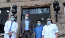 وزير الصحة تسلم هبة ادوية من نظيرته المصرية وتفقد دار الرعاية المارونية