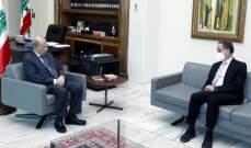 الرئيس عون التقى راوول نعمة وعرض معه الأوضاع الاقتصادية
