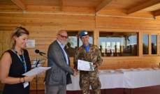 شهادة تقدير لمقر قيادة القطاع الغربي لليونيفيل في شمع
