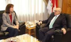 أبو سليمان يعرض مع السفيرة الاميركية مشاريع تصب لمصلحة العامل اللبناني