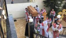 الكنيسة القبطية الارثوذكسية ودعت رئيسها الاب رويس الاورشليمي