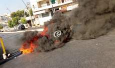 النشرة: محتجون قطعوا شارع حسام الدين الحريري والطريق عند تقاطع ايليا في صيدا