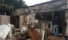 الدفاع المدني: إخماد حريق داخل معمل للرخام في الشويفات