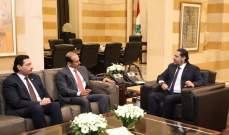 الحريري عرض مع الكعبي سبل تعاون لبنان وقطر في مجال الطاقة والتقى علم الدين وفتفت