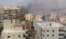 حريق كبير خلف مستشفى الشيخ راغب حرب في تول