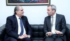 سفير بريطانيا التقى جريصاتي: حريصون على الاستقرار ومستمرون بالدعم