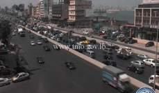 حركة المرور كثيفة من النقاش باتجاه انطلياس وصولاً حتى نهر الموت