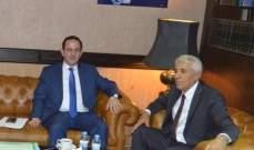 وزير السياحة عرض مع رئيس ديوان المحاسبة التنسيق الرقابي