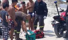 الدفاع المدني: إصابة امرأة جراء تعرضها للإنزلاق من على صخور شاطئ الروشة