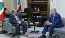 الرئيس عون عرض التطورات مع النائبين السابقين الداود ورحمة