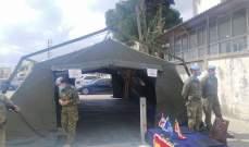 الكتيبة الاسبانية تقدم خيمة انتظار للتلقيح ضد كورونا في مستشفى مرجعيون
