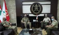 قائد الجيش التقى الملحق العسكري الإسباني في زيارة وداعية قدّم خلالها خلفه