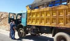 خضر: قمنا بتوقيف شاحنة نفايات على طريق الأرز-عيناتا كانت متوجهة الى نبحا