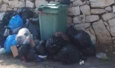 أهالي بلدة كفروة- النبطية يشتكون من تكدس للنفايات في الحاويات