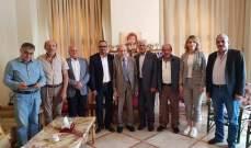 الخليل التقى رئيس اتحاد بلديات العرقوب ورئيس بلدية كفرحمام