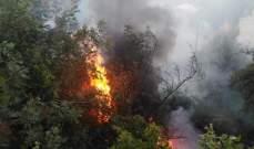 الدفاع المدني: إخماد حريق نفايات وأشجار في مستيتا وآخر شب بأعشاب في الجديدة