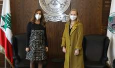 وزيرة الدفاع بحثت مع سفيرة كندا بالعلاقات بين البلدين والتقت القائم بالأعمال البريطاني