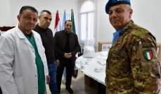 قائد القطاع الغربي في اليونيفيل قدم هبة إيطالية لمستشفى بنت جبيل الحكومي
