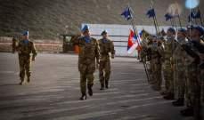 تسليم وتسلم في قيادة الكتيبة الإيطالية في مقر المنصوري – قضاء صور