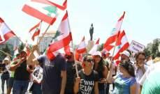 إنطلاق المسيرة من ساحة الشهداء بإتجاه شارع المصارف وساحة رياض الصلح